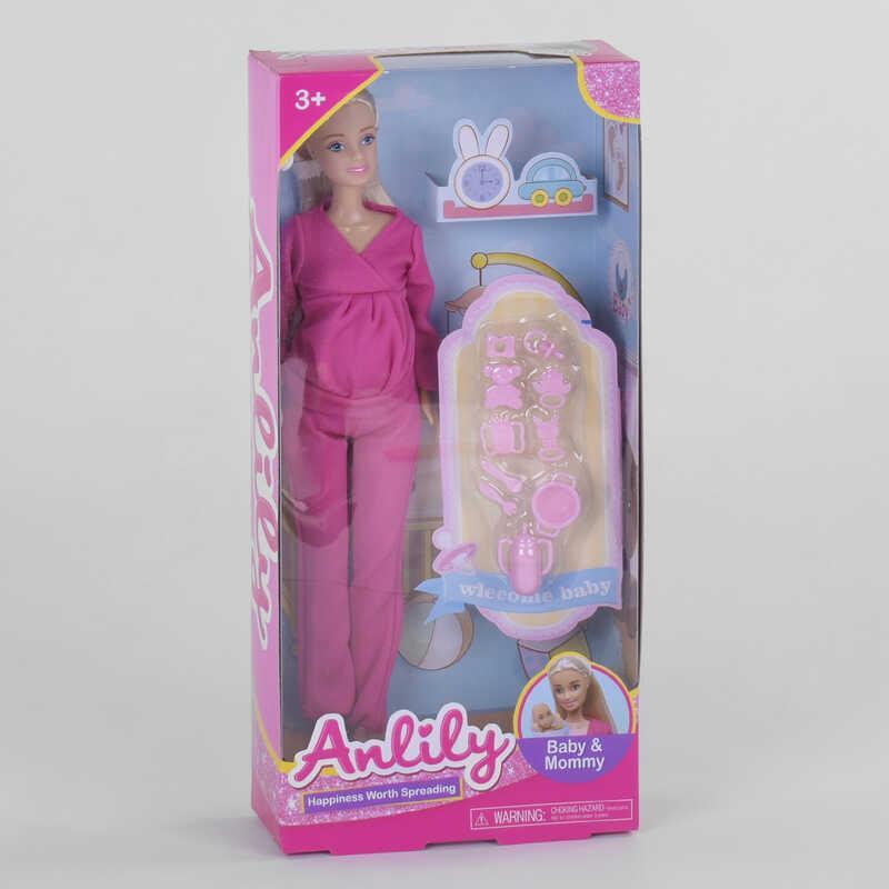 Кукла 99243 (72/2) беременная, с аксессуарами, в коробке