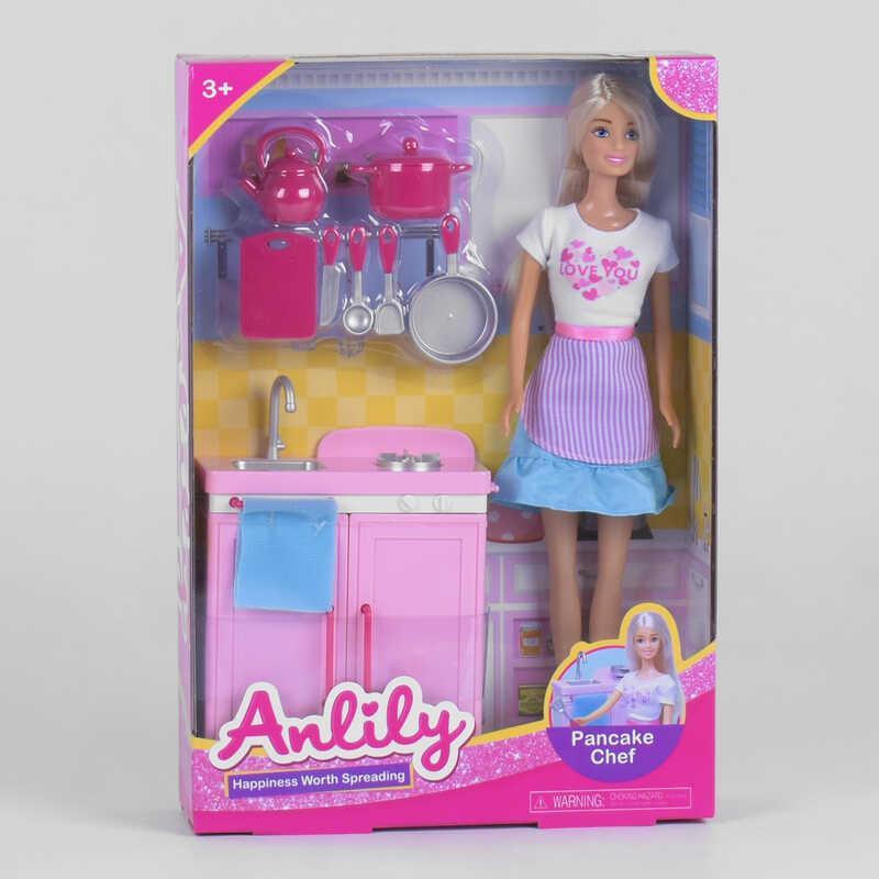 """Лялька 99245 (36/2) """"Кухня"""" стійка, аксесуари, в коробці"""