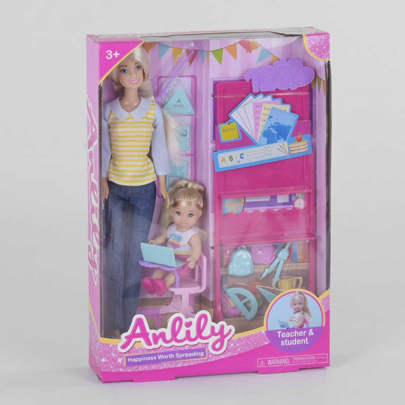 "Кукла 99246 (36/2) ""Учитель"", ребенок, мебель, аксессуары, в коробке"