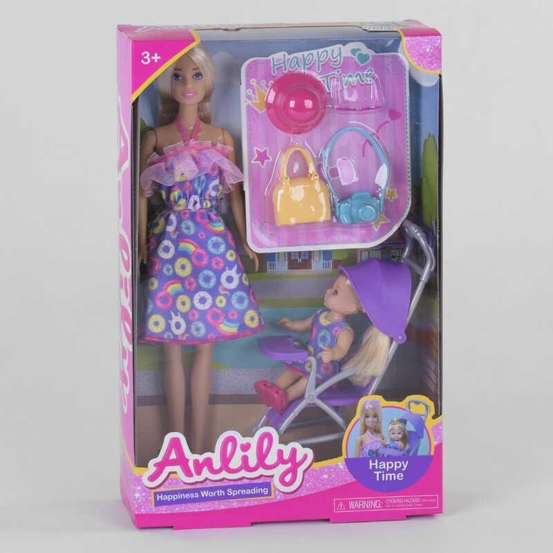 Кукла 99249 (36/2) ребенок, коляска, аксессуары, в коробке