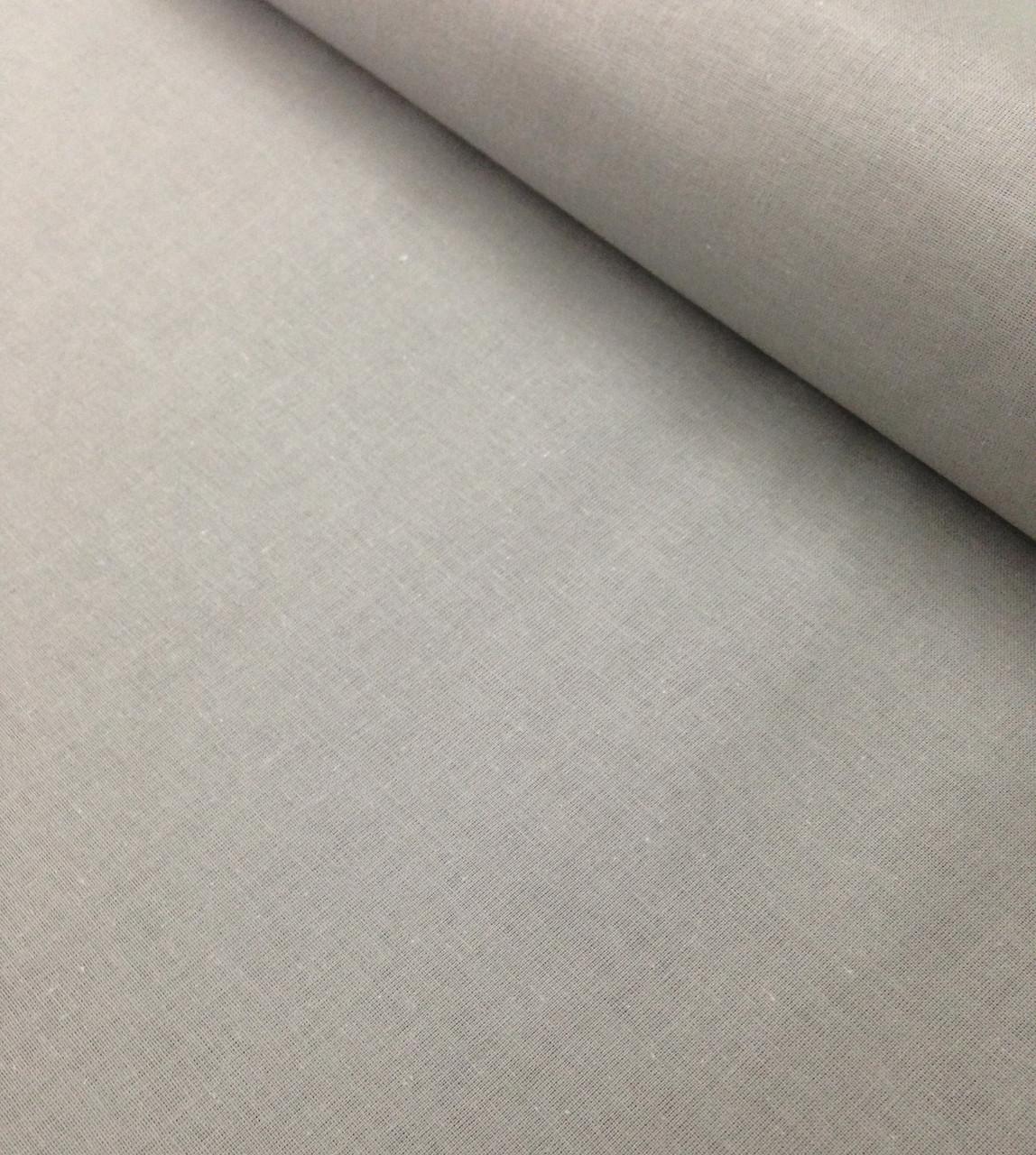 Хлопковая ткань польская графитовый однотонный Отрез(0.6*1.6)