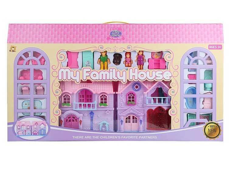 Будиночок КВ 99-15 (10) світло, звук, 3 ігрові фігурки, вихованець, з аксесуарами, в коробці