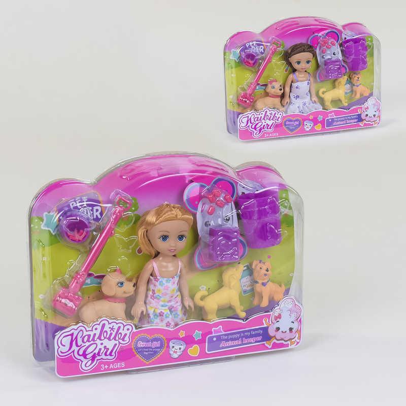 "Кукла BLD 234 (96/2) ""Прогулка"", 2 вида, 3 питомца, аксессуары, в коробке"