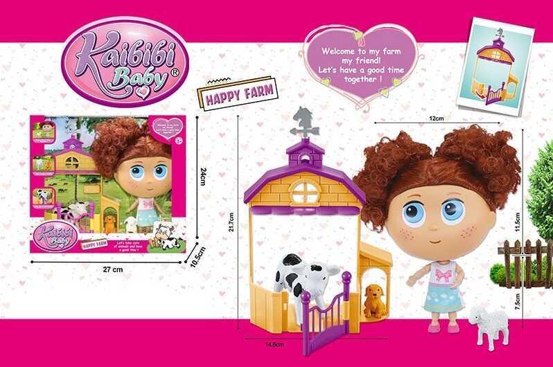 Лялька BLD 294 (36/2) 3 вихованця, загорода, в коробці