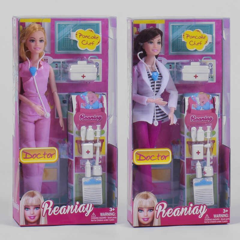"Кукла CS 699-21 (84/2) ""Врач"", 2 вида, аксессуары, в коробке"