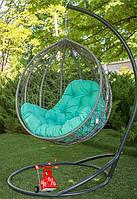 Подвесные садовые качели кокон Люкс Grey, подвесные висячие кресла-шар и садовые качели, кресло-качели