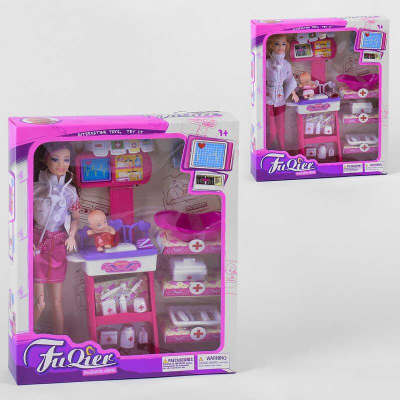 """Лялька JX 100-23 (36/2) """"Педіатр"""", 2 види, немовля, меблі, аксесуари, в коробці"""