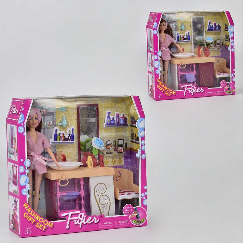 """Лялька JX 100-55 (24) """"Ванна кімната"""", меблі, аксесуари, в коробці"""