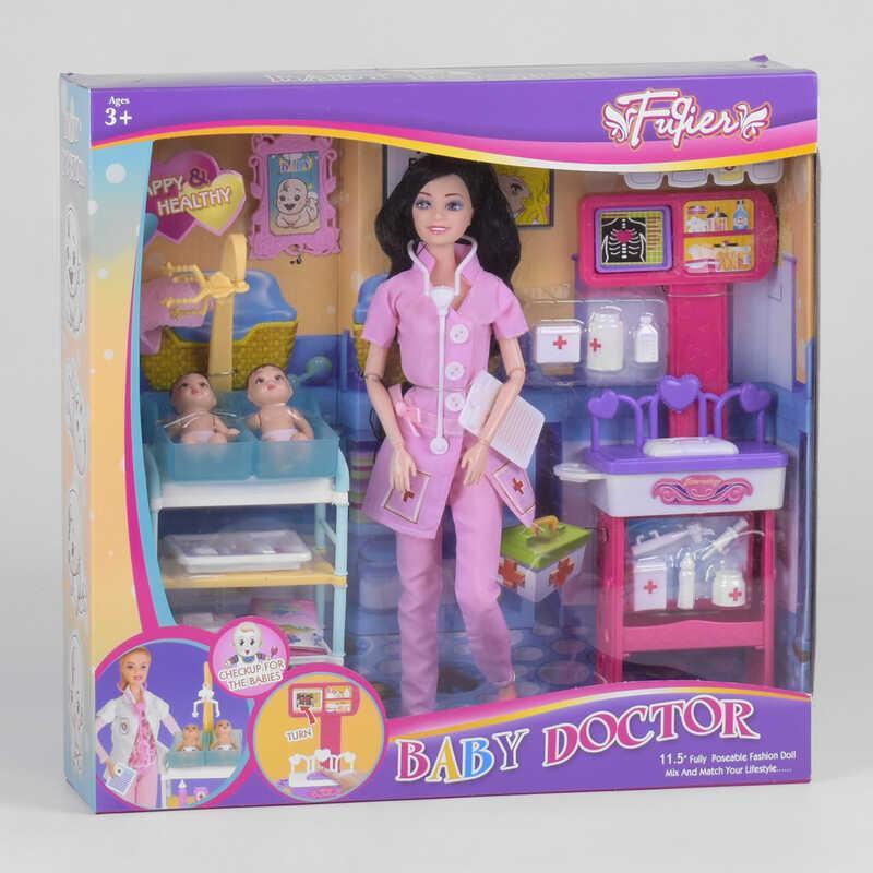 """Лялька JX 200-36 (24/2) """"Дитячий лікар"""", меблі, 2 немовля, аксесуари, в коробці"""
