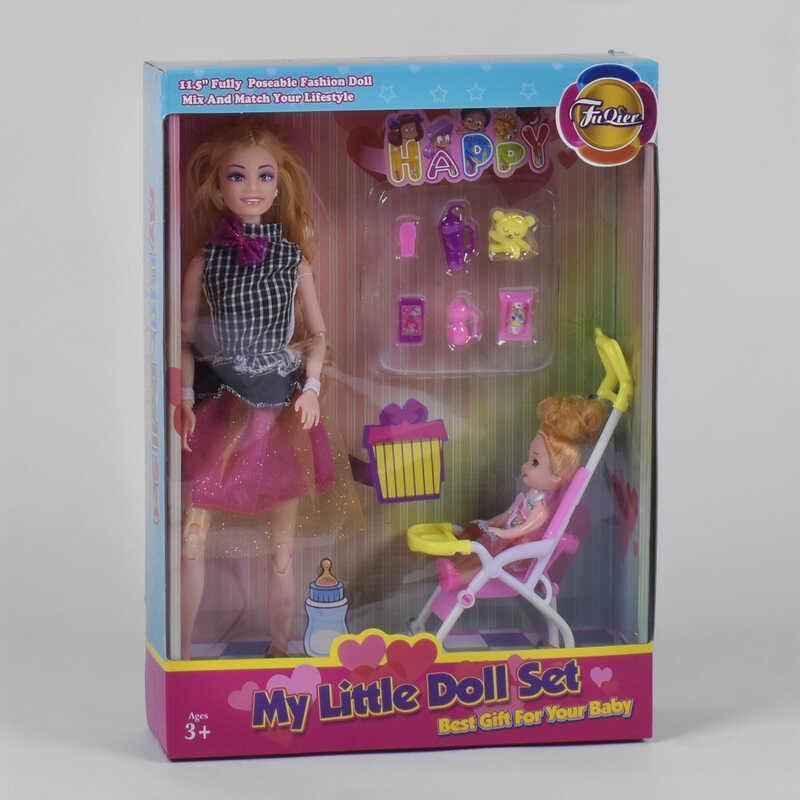 Кукла JX 200-59 (36/2) ребенок, коляска, аксессуары, в коробке