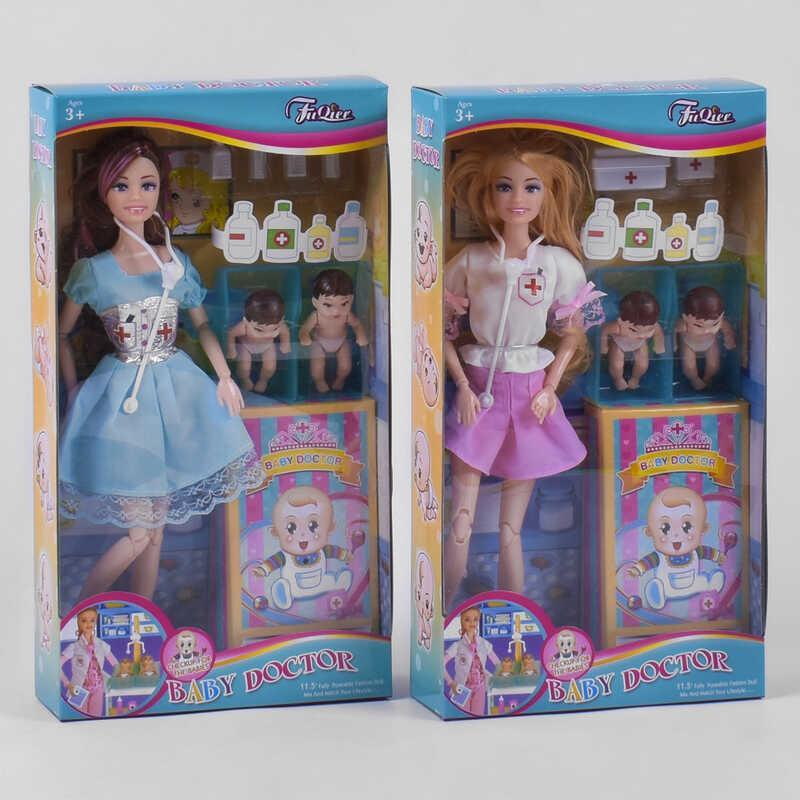 """Лялька JX 200-72 (48/2) """"Педіатр"""", 2 види, 2 немовля, аксесуари, в коробці"""