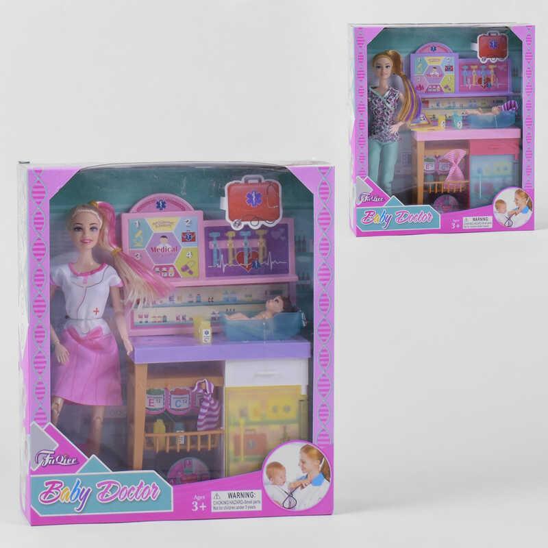 """Лялька JX 200-89 (36/2) """"Педіатр"""", 2 види, немовля, меблі, аксесуари, в коробці"""