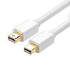 Шнур шт.mini Display Port- шт.mini Display Port, gold, белый, 1метр