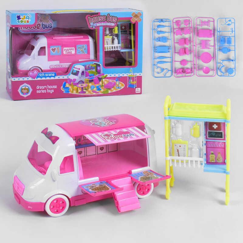 """Игровой набор """"Автобус"""" 0588-3 (24) с аксессуарами доктора, в коробке"""