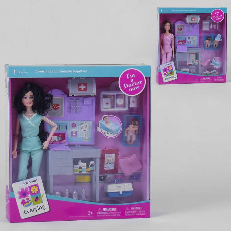"""Лялька JX 200-91 (24/2) """"Лікар"""", 2 види, немовля, меблі, аксесуари, в коробці"""