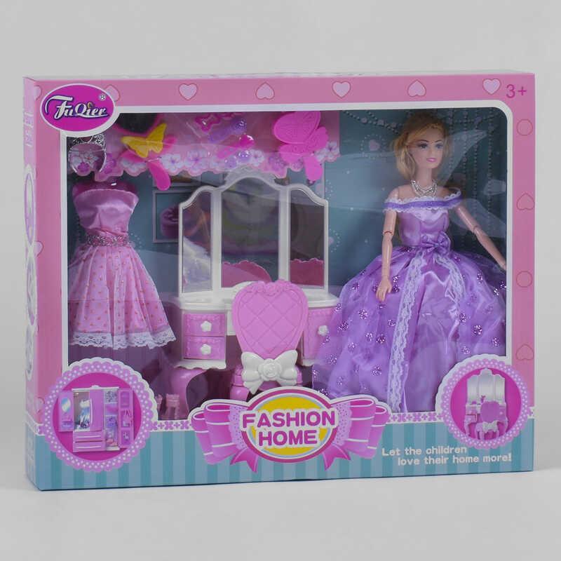 Кукла JX 200-97 (24/2) мебель, платье, аксессуары, в коробке