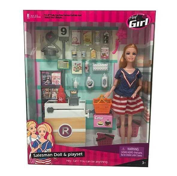 """Лялька JX 300-35 (24/2) """"Магазин продуктів"""", прилавок, продукти, аксесуари, в коробці"""