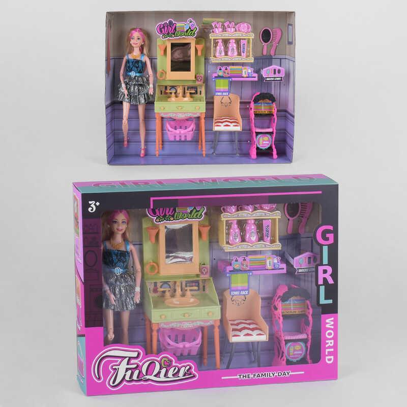 "Кукла JX 300-36 (24/2) ""Ванная комната"", мебель, аксессуары, в коробке"