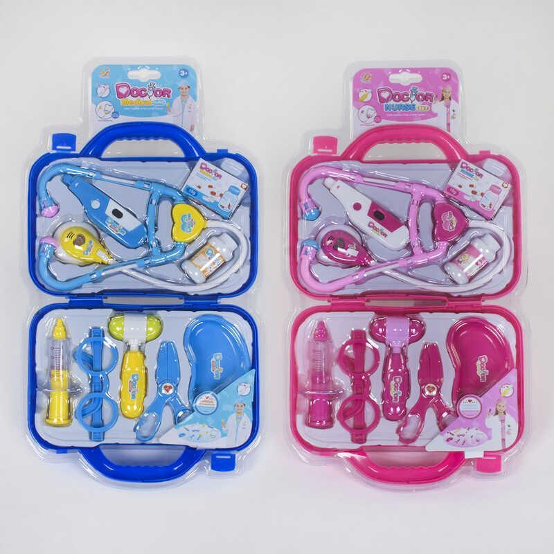 Набір доктора 6602 A / 6602 B (36/2) 2 кольори, світло, звук, валізу в слюді