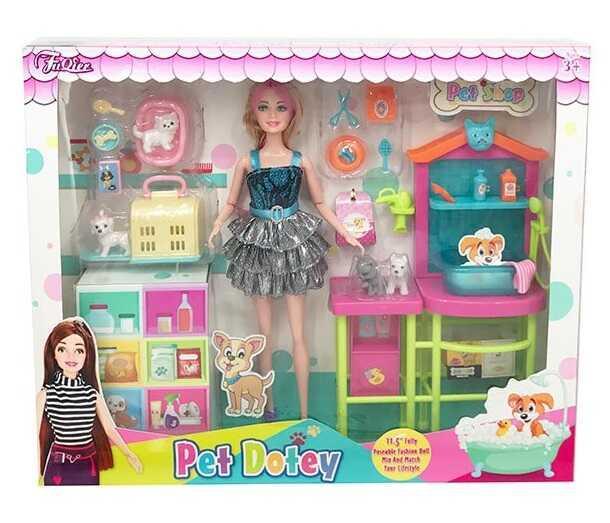Лялька JX 300-46 (24/2) вихованці, стійка, аксесуари, в коробці