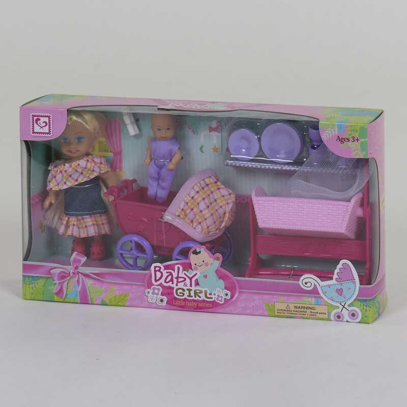 Кукла K 899-97 (72/2) младенец, коляска, аксессуары, в коробке