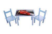 """Детский стол и 2 стула """"Тачки"""""""