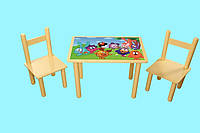 """Детский стол и 2 стула """"Смешарики"""""""