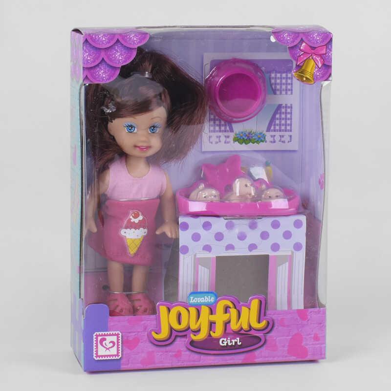 Кукла К 899-84 (192) 3 питомца, аксессуары, в коробке