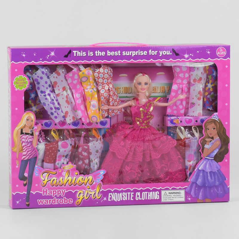 """Лялька з нарядом DSJ 82 (36/2) """"Гардероб"""", вбрання, в коробці"""