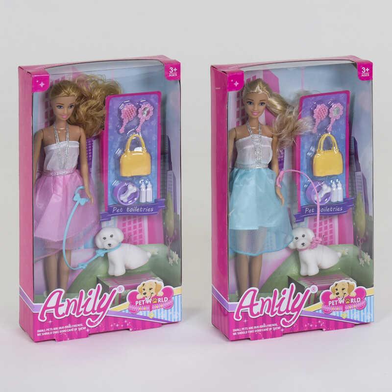 Кукла с питомцем 99028 (48) 2 вида, с аксессуарами, в коробке
