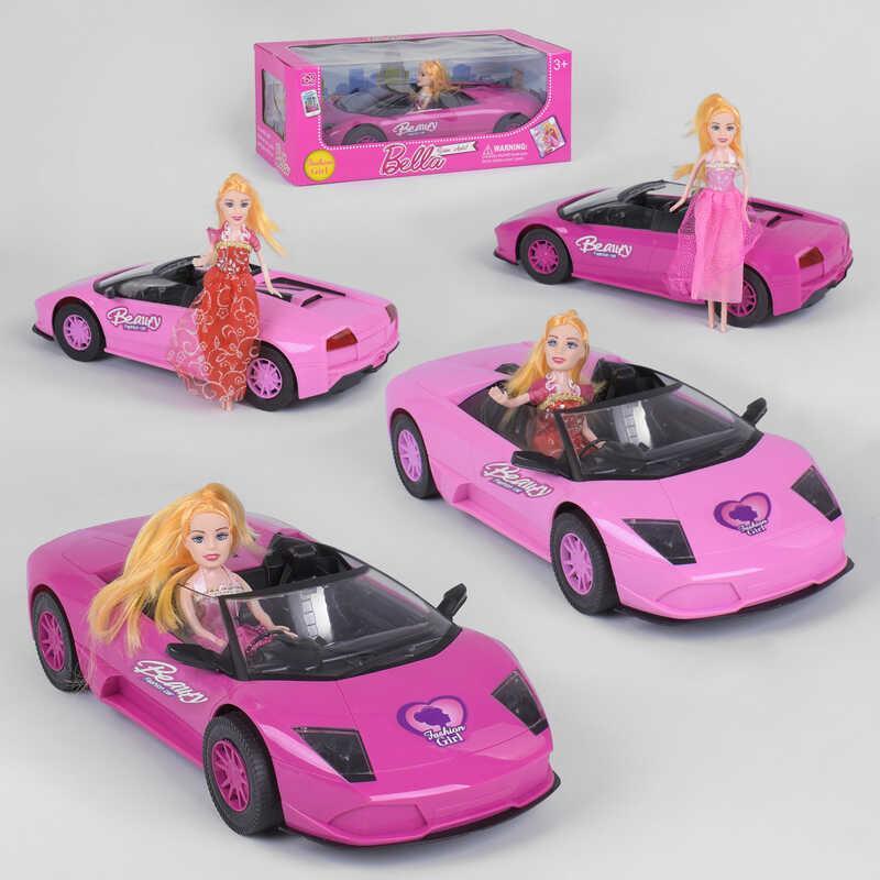 Машинка с куклой 1004 ВВ-1 (20) 2 вида, инерция,  в коробке