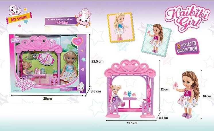 Набір ляльок BLD 241 (48/2) альтанка, аксесуари, в коробці