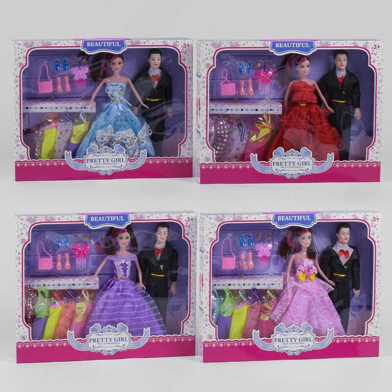 """Набір ляльок Н 189 А (36/2) """"Гардероб"""", 4 види, в коробці"""