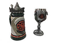 Подарунковий набір Гуртка Game Of Thrones House Targaryen Fire And Blood Гра Престолів і Fire And Blood Кубок, фото 1
