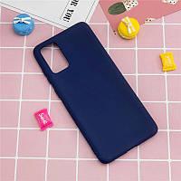 Чехол Fiji Soft для Realme 7 Pro силикон бампер темно-синий