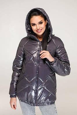 Темно-сіра жіноча куртка демісезонна