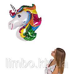 Фольгированная фигура Единорог радужная грива