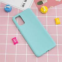 Чехол Fiji Soft для Realme 7 Pro силикон бампер голубой