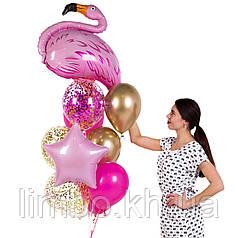 Шарики на день рождения девушке с фигурой фламинго