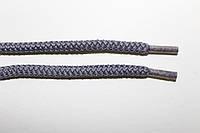 Шнурки круглые 6мм плотные, св. серый