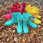 Бирюзовые детские резиновые сапоги из пенки, мятные для девочек и мальчиков, фото 7