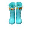Бирюзовые детские резиновые сапоги из пенки, мятные для девочек и мальчиков, фото 2