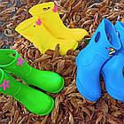 Бирюзовые детские резиновые сапоги из пенки, мятные для девочек и мальчиков, фото 10