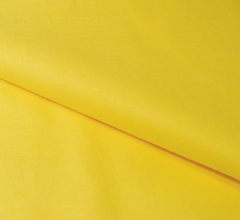 Хлопковая ткань однотонная желтая (плот. 135 г/м.кв) Отрез(1.3*1.6)