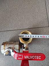 Кран кульовий 1 1\2 дюйма в\в Valotek PN40для води, фото 2