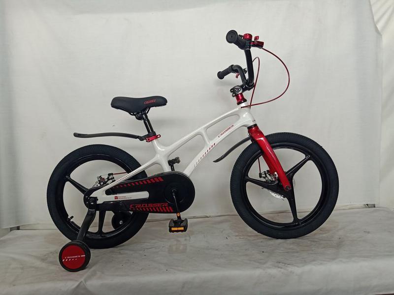 """Дитячий велосипед Crosser MAGN BIKE 16"""" магнієва рама білий"""
