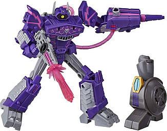 Робот-трансформер Hasbro, Шоквейв, Кибервселенная, 13 см - Deluxe Class Shockwave , Build a Hero