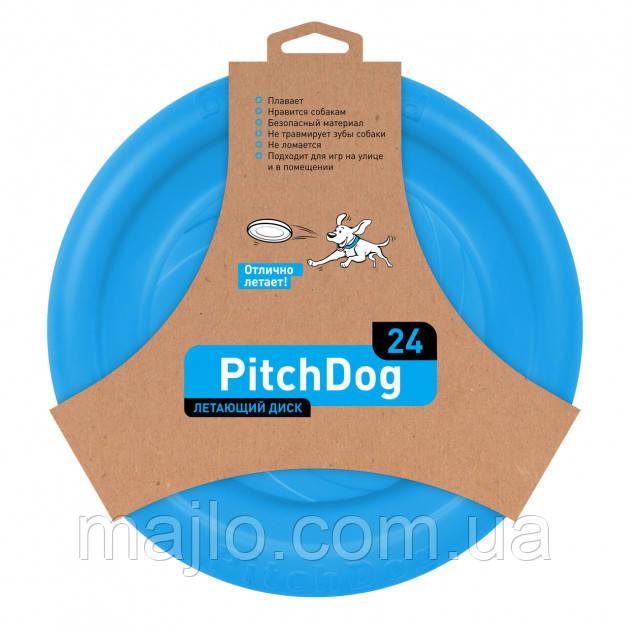 62472 Игрушка для собак Collar PitchDog 24 см Голубая (4823089302805) (62472)