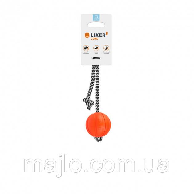 6285 іграшка м'ячик Лайкер 5 корд на шнурку 5 см