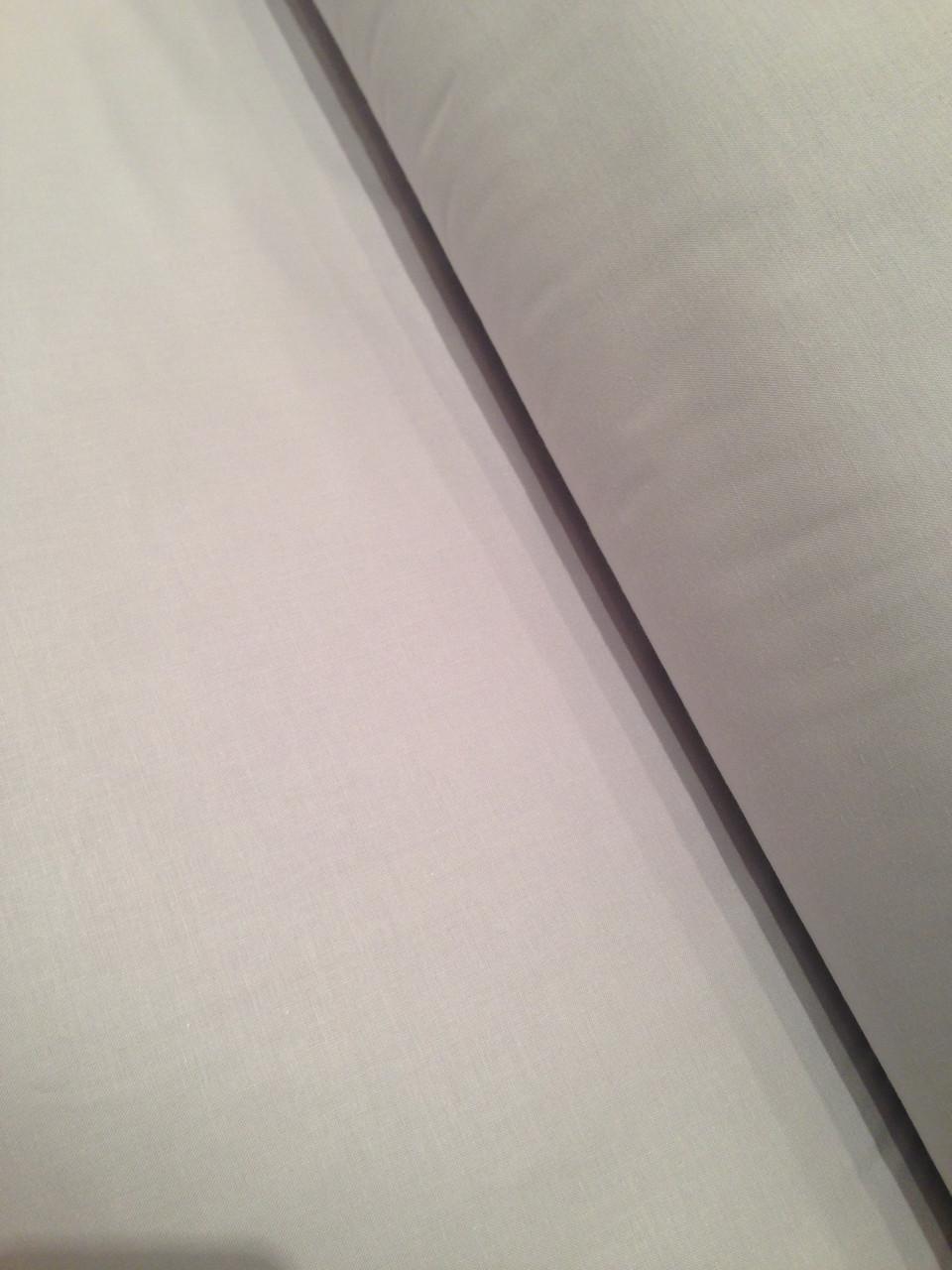 Бавовняна тканина однотонна, світло-сіра № 18 Відріз(1.4*1.6)